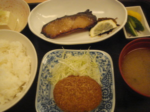 銀鱈の味醂漬け焼き定食@薩摩屋敷